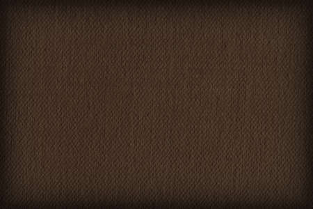 canvas texture: Photograph of Artist Raw Umber Primed Cotton Duck Canvas coarse, vignette grunge texture. Stock Photo