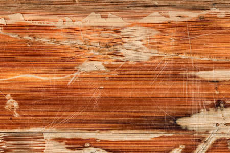 varnished: Photograph of obsolete old, weathered, varnished Wooden Laminated Panel, cracked, scratched, grunge texture. Stock Photo