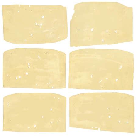 edam: Edam Cheese Slices, isolated on White Background.