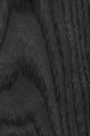 veneer: Maple Wood Veneer Stained Charcoal Black Grunge Texture. Stock Photo