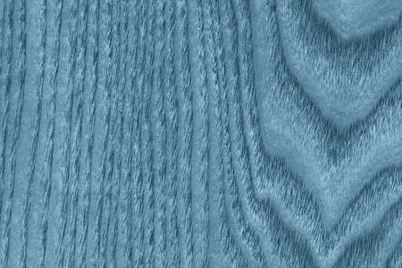 shellac: Maple Wood Veneer, Bleached and Stained Marine Blue Grunge Texture. Stock Photo