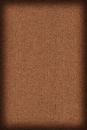 umber: Photograph of recycle, striped Kraft Burnt Umber Brown Paper, coarse grain vignette grunge texture.