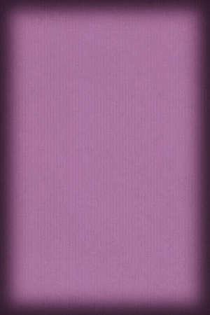 dark purple: Photograph of old recycle, striped Kraft Dark Purple Paper,  coarse grain vignette grunge texture. Stock Photo