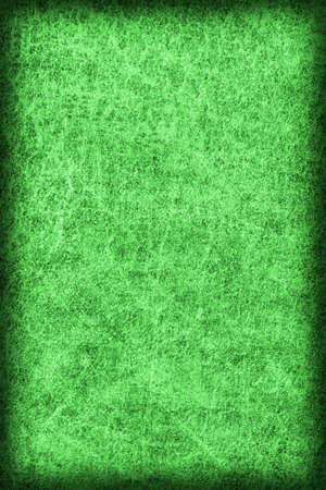 kelly: Old Kelly Green Stained Cowhide, Weathered, Coarse, Creased, Exfoliated, Cracked, Vignette Grunge Texture Sample.