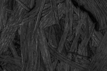 provisional: Chipboard Charcoal Black Stained, Rough, Extra Coarse, Grunge Texture Detail.