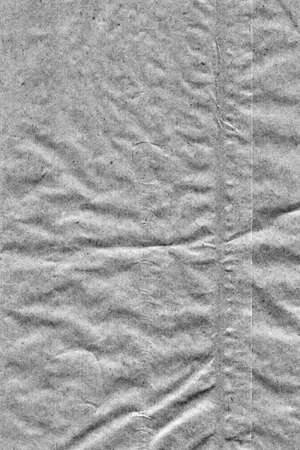 grocery bag: Coarse Recycle Gray Kraft Paper Grocery Bag, Stained, Crushed, Crumpled, Grunge Texture Detail. Stock Photo