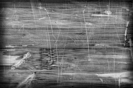 lacquered: Old Bleached Gray Varnished Wooden Laminated Panel, Weathered, Cracked, Scratched Vignette Grunge Texture.
