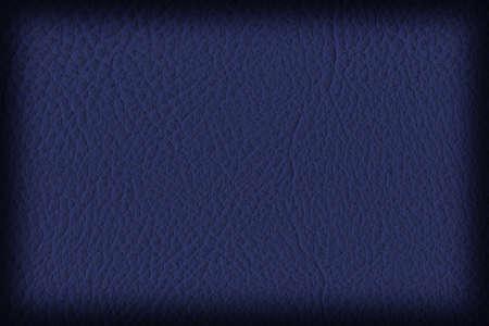 blue navy: Fotograf�a del cuero artificial, azul marino oscuro, grueso Vignette Grunge textura de la muestra.