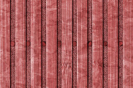 handiwork: Bamboo Mat Handiwork, Bleached and Stained China Red, Grunge Texture Sample.