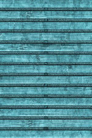 bamboo mat: Bamboo Mat Handiwork, Bleached and Stained Cyan, Grunge Texture Sample.