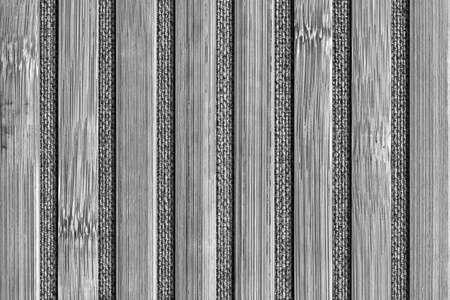 handiwork: Bamboo Mat Handiwork, Bleached and Stained Gray, Grunge Texture Sample. Stock Photo