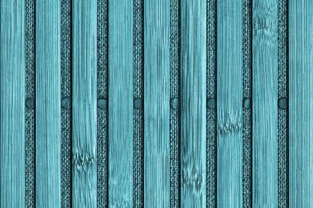 handiwork: Bamboo Mat Handiwork, Bleached and Stained Cyan, Grunge Texture Sample.