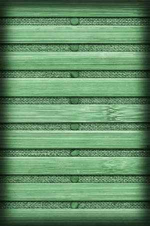 handiwork: Bamboo Mat Handiwork, Bleached and Stained Kelly Green, Vignette Grunge Texture Sample.