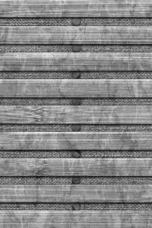 bamboo mat: Bamboo Mat Handiwork, Bleached and Stained Gray, Grunge Texture Sample. Stock Photo