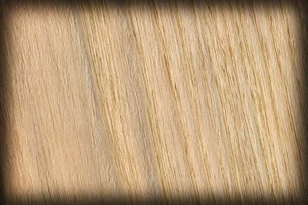 shellac: Oak Wood, Bleached and Stained Ocher, Vignette, Grunge Texture Sample. Stock Photo