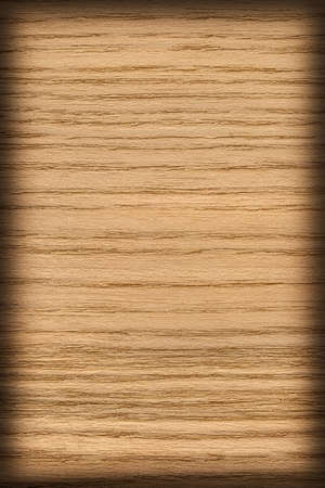 ocher: Oak Wood, Bleached and Stained Ocher, Vignette, Grunge Texture Sample. Stock Photo