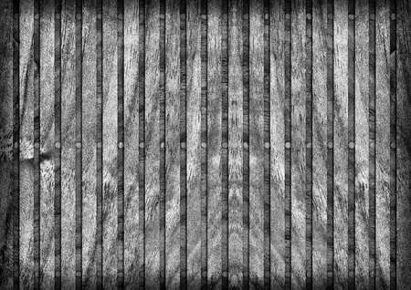 softwood: Old Wooden Mat, Bleached and Gray Stained, Varnished, Cracked, Scratched, Peeled Vignette Grunge Texture. Stock Photo