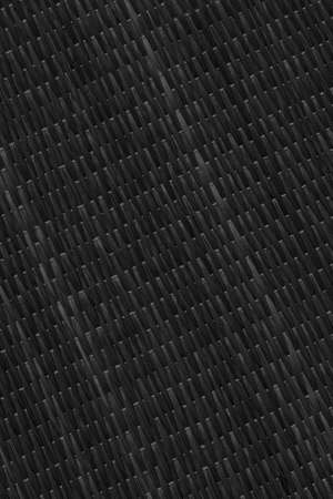 straw mat: Straw Mat, Bleached and Stained Black, Grunge Texture Sample.