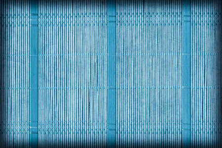straw mat: Straw Mat, Bleached and Stained Pale Dark Blue, Vignette, Grunge Texture Sample.
