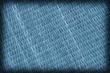 straw mat: Straw Mat, Bleached and Stained Pale Powder Blue, Vignette Grunge Texture Sample.