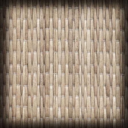 beige backgrounds: Straw Place Mat Weave Pattern Natural Light Beige, Vignette Grunge Texture Sample. Stock Photo