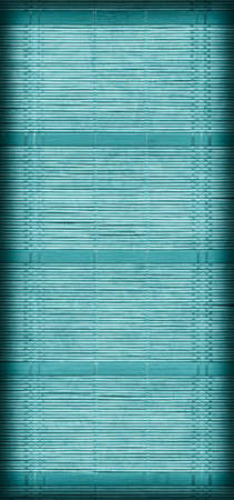 straw mat: Straw Mat Weave Pattern, Bleached and Stained Dark Pale Cyan, Vignette Grunge Texture Sample.