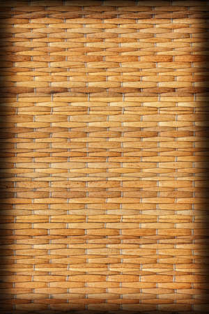 straw mat: Straw Mat, Natural Ocher Weave Pattern, with Multicolored Threads Interlaced, Grunge Texture Sample.