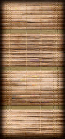straw mat: Straw Mat, Green Ocher Bleached and Stained Weave, Vignette, Grunge Texture Sample.