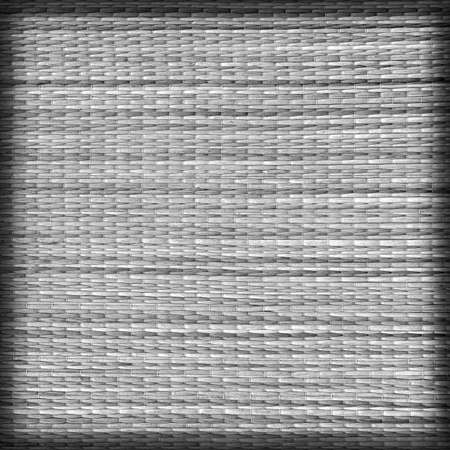 straw mat: Straw Mat, Bleached and Stained Dark Gray, Vignette Grunge Texture Sample.