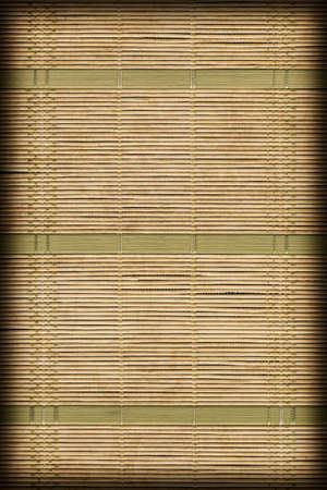 plaited: Paper Parchment Plaited Place Mat, Natural Dark Green Ocher-brownish, Grunge Texture Sample. Stock Photo