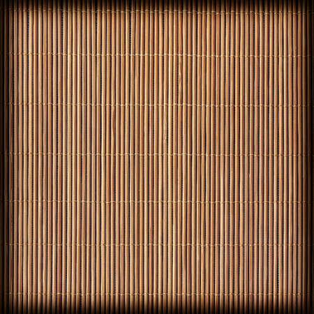 umber: Straw Place Mat, Weave Pattern Light Burnt Umber Brown Stained, Vignette, Grunge Texture Sample.