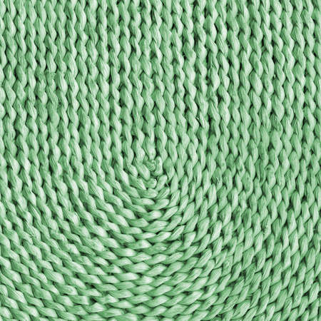 raffia: Raffia Place Mat Plaited Detail, Bleached and Stained Pale Green, Grunge Texture Sample.
