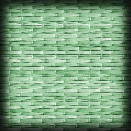 kelly: Straw Place Mat, Bleached and Stained Dark Kelly Green, Vignette Grunge Texture Sample. Stock Photo