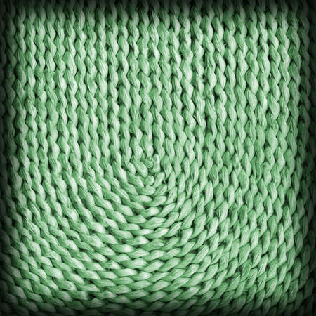 raffia: Raffia Place Mat Plaited Detail, Bleached and Stained Pale Green, Vignette Grunge Texture Sample.