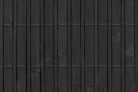 Bamboo Mat, Bleached and Stained Charcoal Black, Grunge Texture Sample. Reklamní fotografie