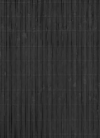 bamboo mat: Bamboo Mat, Bleached and Stained Charcoal Black, Grunge Texture Sample. Stock Photo