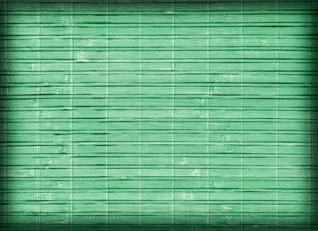 lineas decorativas: Estera de bambú, blanqueado y manchado pálido verde de Kelly, Viñeta, grunge textura de la muestra. Foto de archivo