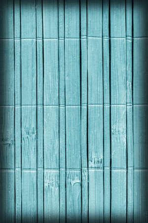 japones bambu: Estera de bamb�, P�lido y manchado p�lido Cian, Vignette, Grunge textura de la muestra. Foto de archivo