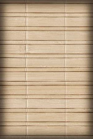 bamboo mat: Bamboo Mat, Natural Ocher, Mottled, Vignette, Grunge Texture Sample. Stock Photo