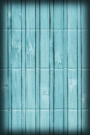 bambu: Estera de bambú, Pálido y manchado pálido Cian, Vignette, Grunge textura de la muestra. Foto de archivo