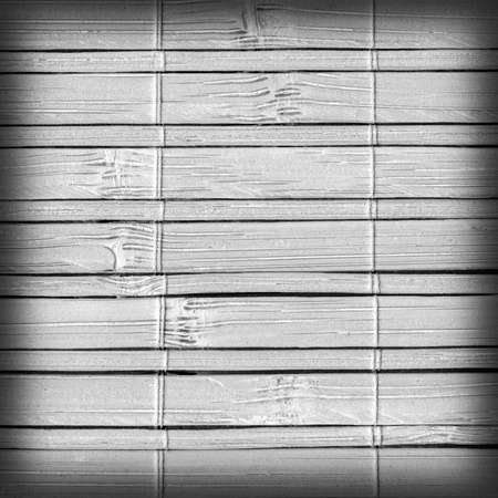 bamboo mat: Bamboo Mat, Bleached and Stained Gray, Vignette, Grunge Texture Sample. Stock Photo
