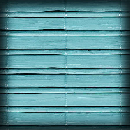 bamboo stick: Bamboo Mat, Bleached and Stained Pale Cyan, Vignette, Grunge Texture Sample.
