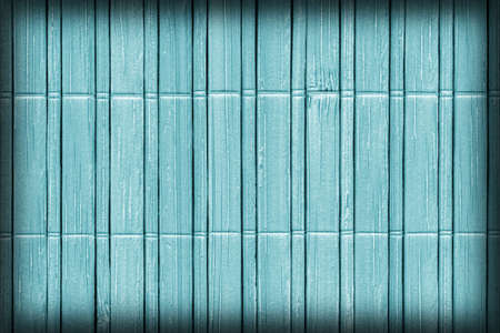 chinese bamboo: Bamboo Mat, Bleached and Stained Pale Powder Blue, Vignette, Grunge Texture Sample.
