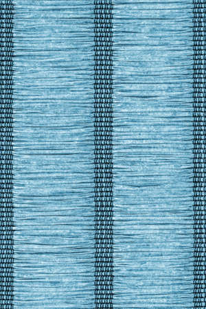 plaits: Place Mat, Made of Interwoven Paper Parchment Plaits, Stained Dark Marine Blue, Grunge Texture Sample.