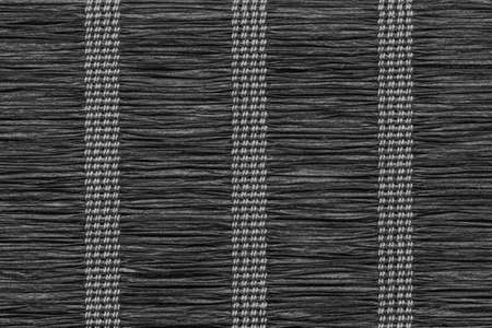 plaited: Paper Parchment Plaited Place Mat, Stained Dark Charcoal Black, Grunge Texture Sample.