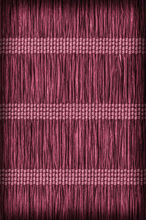 plaited: Paper Parchment Plaited Place Mat, Stained Magenta, Vignette, Grunge Texture Sample.