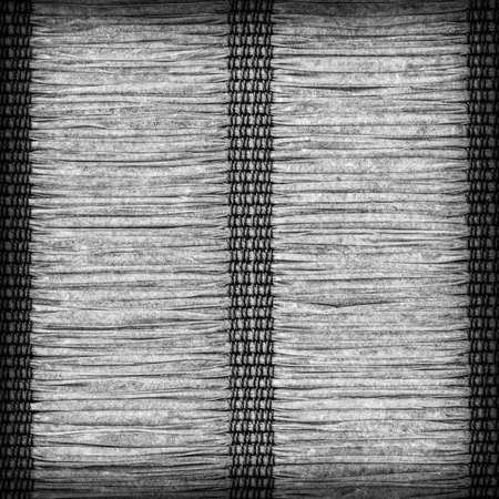 plaited: Paper Parchment Plaited Place Mat, Dark Gray, Vignette, Grunge Texture Sample.