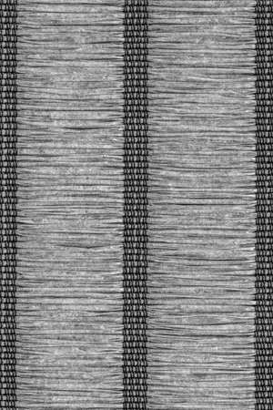 plaited: Paper Parchment Plaited Place Mat, Dark Gray, Grunge Texture Sample. Stock Photo