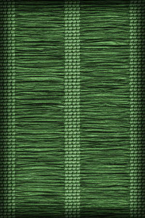 plaited: Paper Parchment Plaited Place Mat, Dark Green, Vignette, Grunge Texture Sample. Stock Photo