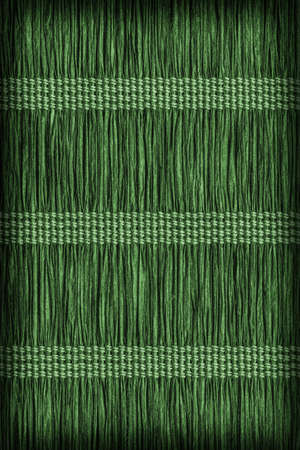 kelly: Place Mat, made of Interwoven Paper Parchment Plaits, Stained Dark Green, Grunge Texture Sample.